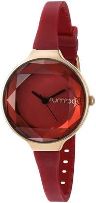 RumbaTime Women's 22711 Orchard Gem 30mm Analog Display Japanese Quartz Red Watch
