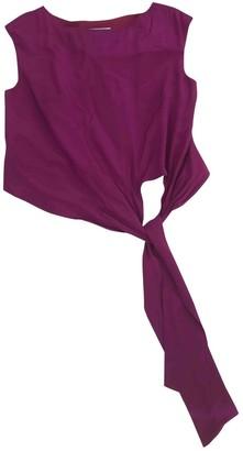 Jaeger Burgundy Silk Dress for Women