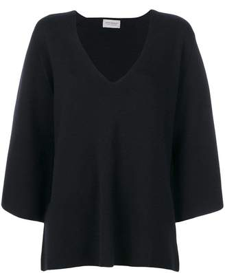 John Smedley flared V-neck sweater