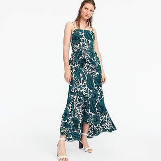J.Crew Ruffle hi-low silk dress in tropical floral