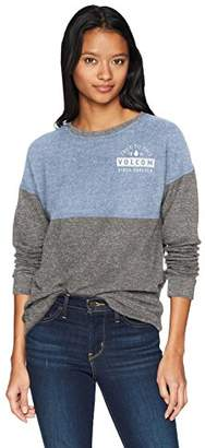 Volcom Junior's Lil Crew Neck Fleece Sweatshirt
