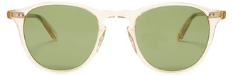 Garrett Leight Hampton 46 Round Frame Sunglasses - Mens - Clear
