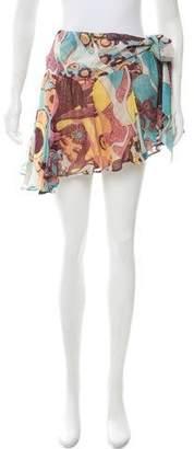 Just Cavalli Printed Silk Skirt