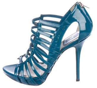 Christian Dior Patent Cage Sandals