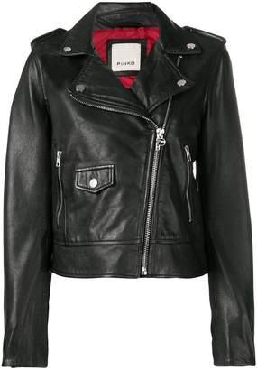 Pinko classic fitted biker jacket