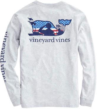 Vineyard Vines Adult Long-Sleeve Veterans Pocket T-Shirt
