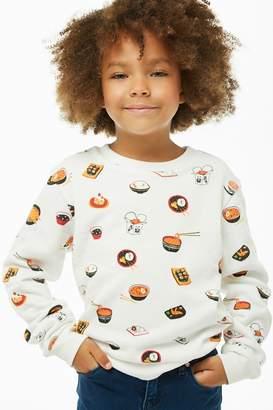 Forever 21 Girls Food Graphic Sweatshirt (Kids)