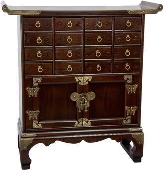 Oriental Furniture Korean Antique Style 16-Drawer Medicine Chest