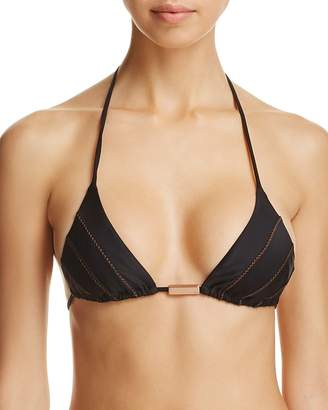 Vix Solid Ribbing Triangle Bikini Top