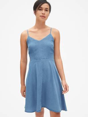 Gap Fit and Flare Cami Dress in TENCEL