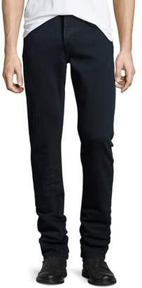 Burberry Straight-Fit Clean Wash Stretch Jeans, Dark Indigo