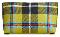 Burberry Plaid Leather Zip Clutch
