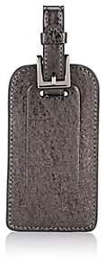 Barneys New York Men's Metallic Crinkled Leather Luggage Tag - Dark Gray