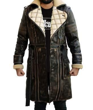 b4423b0a20a The Custom Jacket Elder Battle Brown Fur Collar Maxson Fall Long Trench Coat  Out 4 Jacket