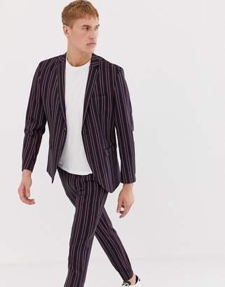 slim suit jacket in boat stripe