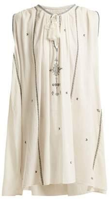 Etoile Isabel Marant Malya Embroidered Cotton Dress - Womens - Cream