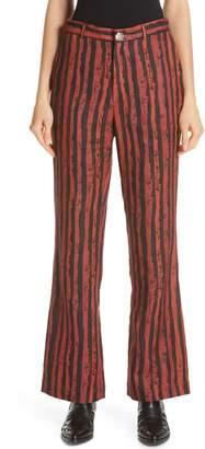 Martine Rose Flare Leg Linen Pants