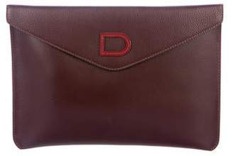 Delvaux Leather Envelope Clutch