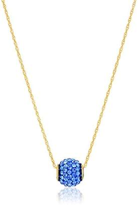 Swarovski 10k Yellow Gold Color Crystal 10Mm Ball 14k Gold Filled Chain Pendant Necklace
