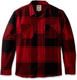 Levi's Men's Bookie Long Sleeve Flannel Woven Shirt