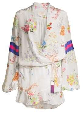 Rococo Sand Ayaka Short Floral Wrap Dress