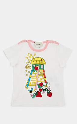 Gucci Infants' Strawberry-Graphic Cotton T-Shirt - White