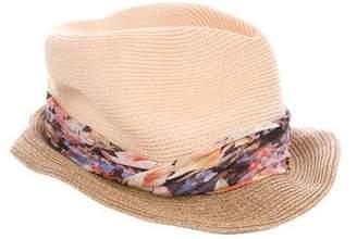 Eugenia Kim Straw Fedora Hat