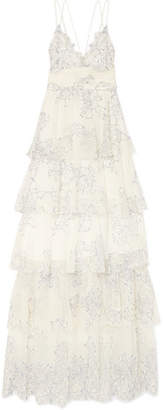 Alice McCall Love Is Love Tiered Lace Gown - Cream