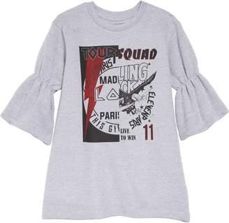 Little Eleven Paris Little ELEVENPARIS Klick Rock Band Sweatshirt Dress