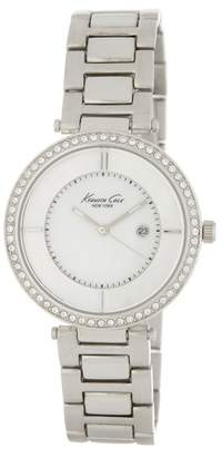 Kenneth Cole New York Women's Crystal Accented Mother of Pearl Bracelet Watch, 34mm