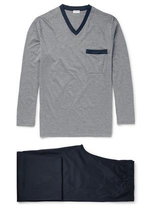 Zimmerli Cotton-Jersey Pyjama Set $315 thestylecure.com