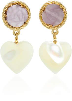 Cat Eye Brinker & Eliza Blair Gold-Plated, Pearl And Earrings
