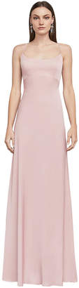 BCBGMAXAZRIA Fae Sleeveless Lace-Up Gown