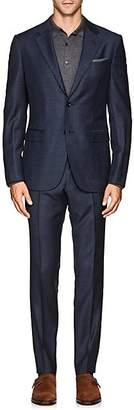 Barneys New York Men's Mélange Wool Twill Suit - Blue