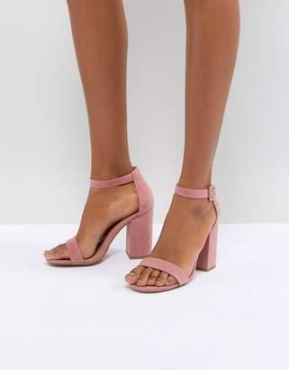 New Look Suedette Block Heel Sandal