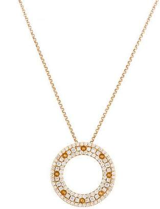 Roberto Coin 18K Diamond Circle Pendant Necklace