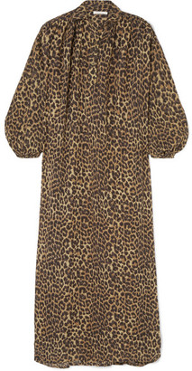 Mes Demoiselles Farouche Leopard-print Cotton-voile Kaftan - Leopard print