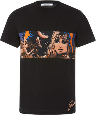 Givenchy Virgo Printed Cotton T-Shirt