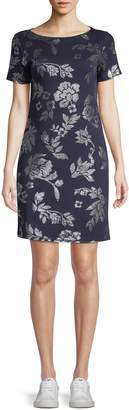 Karen Scott Short Sleeve Floral Dress