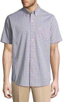 Dockers Short Sleeve Gingham Button-Front Shirt