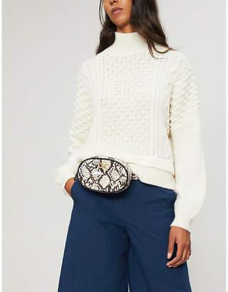 Frame Nubby waffle-knit wool-blend turtleneck jumper