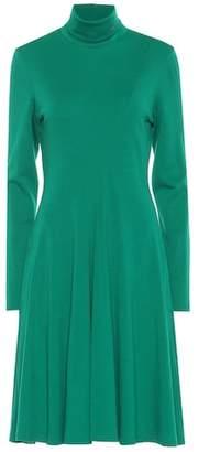 Calvin Klein Wool jersey turtleneck dress