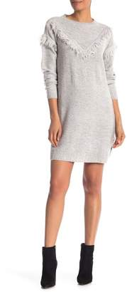 Vero Moda Fringe Knit Sweater Dress