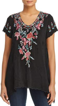 Johnny Was Hinga Scalloped Embroidered Tunic