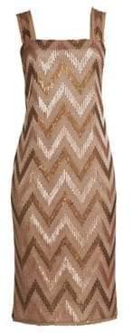 Rachel Zoe Eileen Chevron Sequin Sheath Dress
