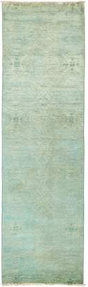 Solo Rugs Vibrance Hand-Knotted Wool Moroccan Runner