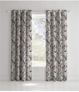 Catherine Lansfield Painted Floral Panel Curtains