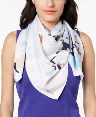 Vince Camuto Cherry Blossom Square Scarf