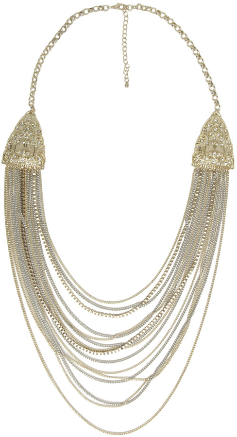 Arden B Filigree & Layering Chain Necklace