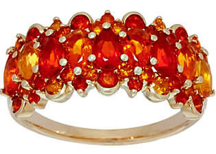 QVC Pear and Round Cut Fire Opal Band Ring, 14K,1.40 cttw